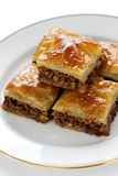 Homemade baklava Royalty Free Stock Photos