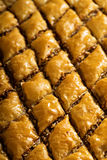 Homemade baklava with pistachios and hazelnuts Stock Image