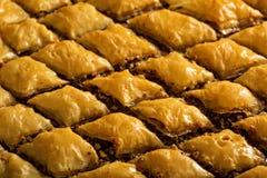 Homemade baklava with pistachios and hazelnuts Royalty Free Stock Photo