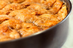 Homemade baklava - Turkish filo sweet pastry 04 Royalty Free Stock Photo