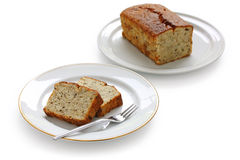 Homemade banana bread Stock Images