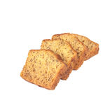 Homemade banana bread sliced on white Stock Images