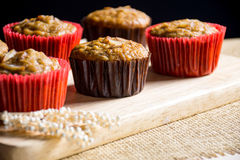 Homemade banana cupcakes Stock Photography