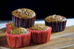 Homemade banana cupcakes Royalty Free Stock Photos