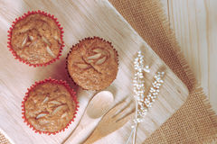 Homemade banana cupcakes Stock Photo