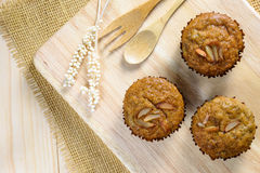 Homemade banana cupcakes Royalty Free Stock Photo