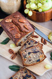 Homemade banana loaf. Delicious fresh homemade banana bread (cake Stock Photo