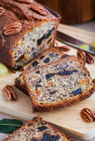 Homemade banana loaf. Delicious fresh homemade banana bread (cake Stock Photos