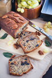 Homemade banana loaf. Delicious fresh homemade banana bread (cake Stock Image