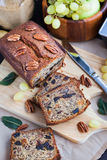 Homemade banana loaf. Delicious fresh homemade banana bread (cake Royalty Free Stock Photos