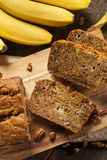 Homemade Banana Nut Bread Stock Photos