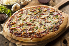 Homemade Barbecue Chicken Pizza Royalty Free Stock Image
