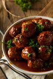 Homemade Barbecue Meat Balls Royalty Free Stock Photos