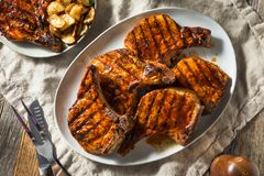 Free Homemade Barbecue Pork Chops Stock Image - 145329691