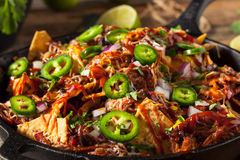 Free Homemade Barbecue Pulled Pork Nachos Royalty Free Stock Photography - 75514347