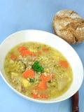 Homemade Barley Soup Stock Photo