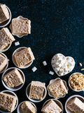 Homemade bars of Marshmallow and crispy rice Royalty Free Stock Photography
