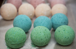 Homemade bath bomb Royalty Free Stock Photos