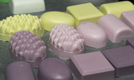 Homemade bath soaps Stock Photography