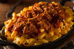 Homemade BBQ Pulled Pork Mac and Cheese Royalty Free Stock Image