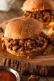 Homemade BBQ Sloppy Joe Sandwiches Stock Image