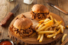 Homemade BBQ Sloppy Joe Sandwiches Royalty Free Stock Photography