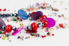 Homemade bead jewelry. Stock Image