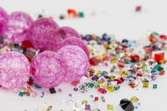 Homemade bead jewelry. Stock Photos