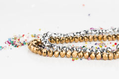 Homemade bead jewelry. Royalty Free Stock Image