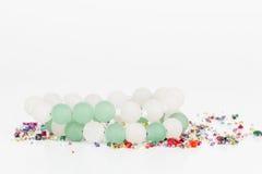 Homemade bead jewelry. Royalty Free Stock Photos