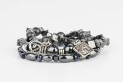 Homemade bead jewelry. Royalty Free Stock Photography