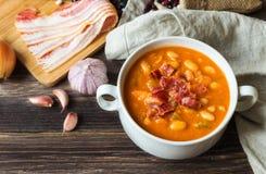 Homemade bean soup Stock Photo