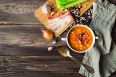 Homemade bean soup Stock Photography