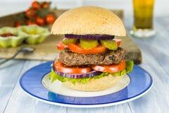 Homemade beef burger Royalty Free Stock Photo