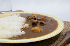 Homemade beef curry with diced beef Stock Image