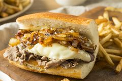 Free Homemade Beef French Dip Sandwich Royalty Free Stock Photos - 121749888