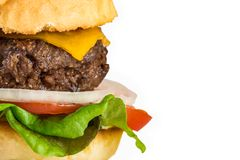 Home-made Burger and French Fries Royalty Free Stock Image