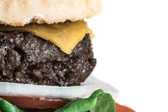 Home-made Burger and French Fries Royalty Free Stock Images
