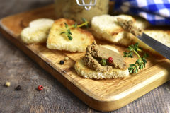 Homemade beef liver pate. Royalty Free Stock Images