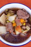 Homemade Beef Soup with Assorted Vegetables Royalty Free Stock Photos