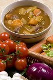 Homemade Beef Stew 006. Homemade beef stew with fresh vegetables herbs and spices Stock Images