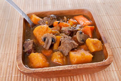 Homemade beef stew Stock Images