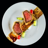 Homemade beef Wellington with a pastry crust, classic steak dish stock photo