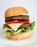 Homemade beefburger Royalty Free Stock Photos