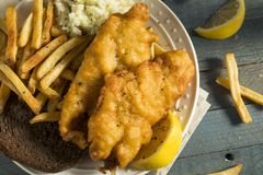 Homemade Beer Battered Fish Fry Royalty Free Stock Images