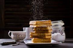 Homemade Belgian waffles Stock Photography