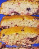 Homemade Berries Loaf stock photo