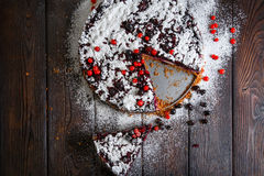 Homemade berry cake on the wood background Royalty Free Stock Image