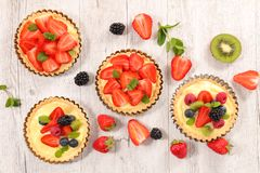 Berry fruit tart Royalty Free Stock Images