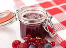 Homemade Berry Jam Stock Photography